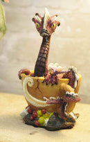 "Ebros Coffee Cappuccino Addict Dragon Statue 6.25"" H Drinks & Dragons Collection"