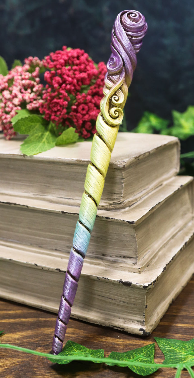 Witches Wizards Fantasy Cosplay Rainbow Unicorn Horn Magic Wand Prop Accessory