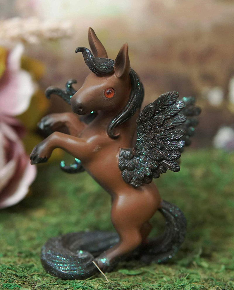 Ebros Fantasy Fairy Tale Pegasus Horse Figurine Shelf Decor (Brown Beauty Clair)