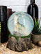 Majestic Lone Wolf Howling Water Globe Collectible Water Ball Home Decor