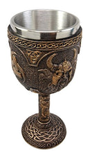 Ebros Norse Mythology Viking Alfather Odin God Of Asgard 7oz Resin Wine Goblet Chalice With Stainless Steel Liner Asgardian Ruler Thor Loki Frigga Royal Gods Family Celtic Knotwork Base