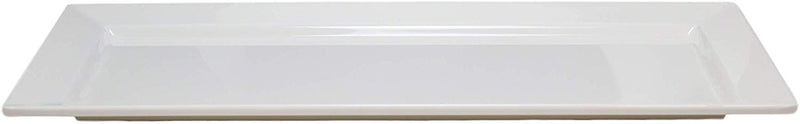 "14""L White Melamine Modern Rectangular Serving Plates or Dish Platters Set of 6 - Ebros Gift"