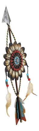 Ebros Dreamcatcher with Beaded Feathers Wall Hanging Decor Dream Catcher Decoration Ornament Hanger for Home and Office (North Arrow Roach Feathers)