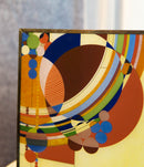 Frank Lloyd Wright Colorful March Balloons Stained Glass Wall Or Desktop Plaque