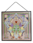 Frank Lloyd Wright Imperial Hotel Peacock Rug Stained Glass Wall Desktop Plaque