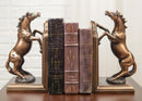 Two Fine Horses Standing On Hind Legs Bookends Bronze Electroplated Figurine