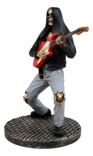 Ebros Day Of The Dead Skeleton Hell Rock Band Electric Guitarist Figurine