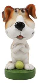 Tennis Sport Hound Dog Novelty Gift Whimsical Eyeglass Spectacle Holder Figurine