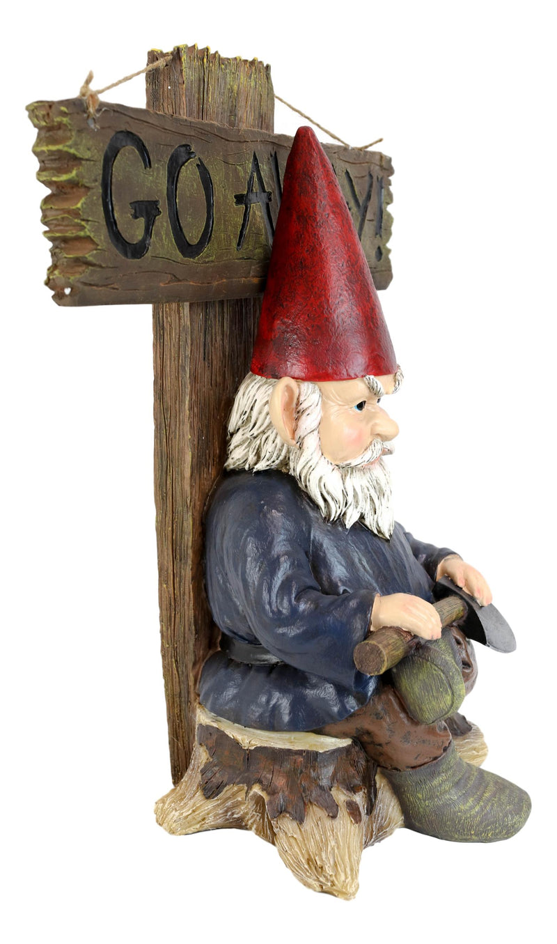 Ebros Grinchy Rude Angry Gnome With Axe Welcome Statue Home Greeter Unwelcome