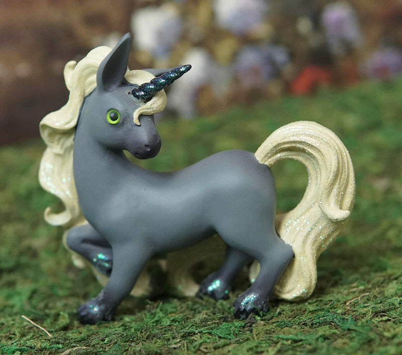 Ebros Whimsical My Little Unicorn Horse Figurine in Pastel Colors (Grey Comet)