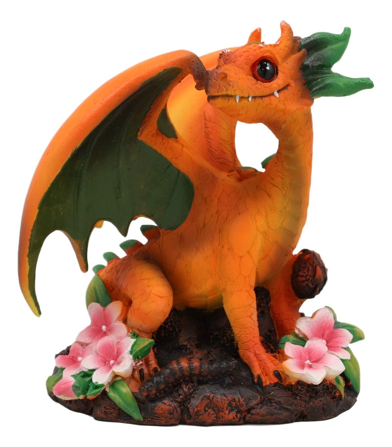 Ebros Colorful Garden Fruits and Berries Green Thumb Dragon Statue by Stanley Morrison Medieval Fairy Dragons Fantasy Decor Figurine (Deciduous Juicy Peach)