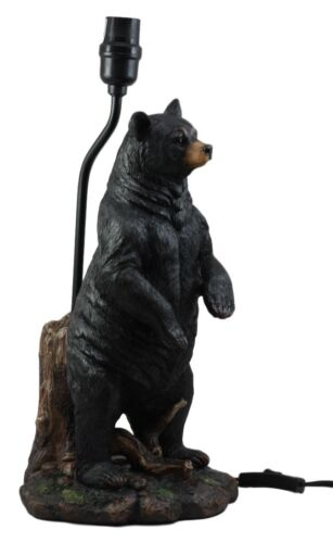 Large Standing Black Bear Surveyor Arkadius Desktop Table Lamp Decor Figurine