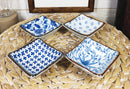 Made In Japan Multi Patterned Square Sauce Condiment Dipping Bowl Set Serves 4