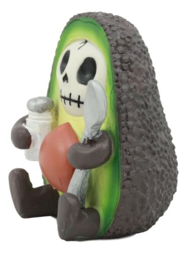 Gourmet Furrybones Hass Avocado Figurine Small Furry Bones Skeleton Decor Statue