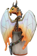 "Ebros Mead Viking Thor Hammer Dragon Statue 6.25"" H Drinks & Dragons Collection"
