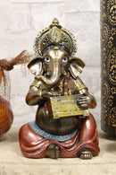 "Ebros Celebration of Life and Arts Lord Ganesha Playing Musical Instruments Statue 6.75"" Tall Hindu Elephant God Deity Remover of Obstacles Figurine Vastu Hinduism Collectible Decor (Harmonium)"