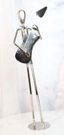 Decorative Hand Made Recycled Metal Guitar Instrument Player Musician Statue