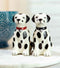 Black And White Spotted Dalmatian Dogs Puppies Magnetic Salt Pepper Shakers Set