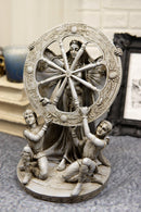 "Celtic Moon Goddess Arianrhod Statue 11""Tall Cosmic Wheel Of The Year And Fate"