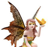 "Amy Brown Tropical Sunny Yellow Butterfly Fairy Enchanted Forest Figurine 6.25"" - Atlantic Collectibles"