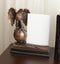"Majestic Bald Eagle Perching On Earth Globe 4""X6"" Glass Picture Frame Statue"