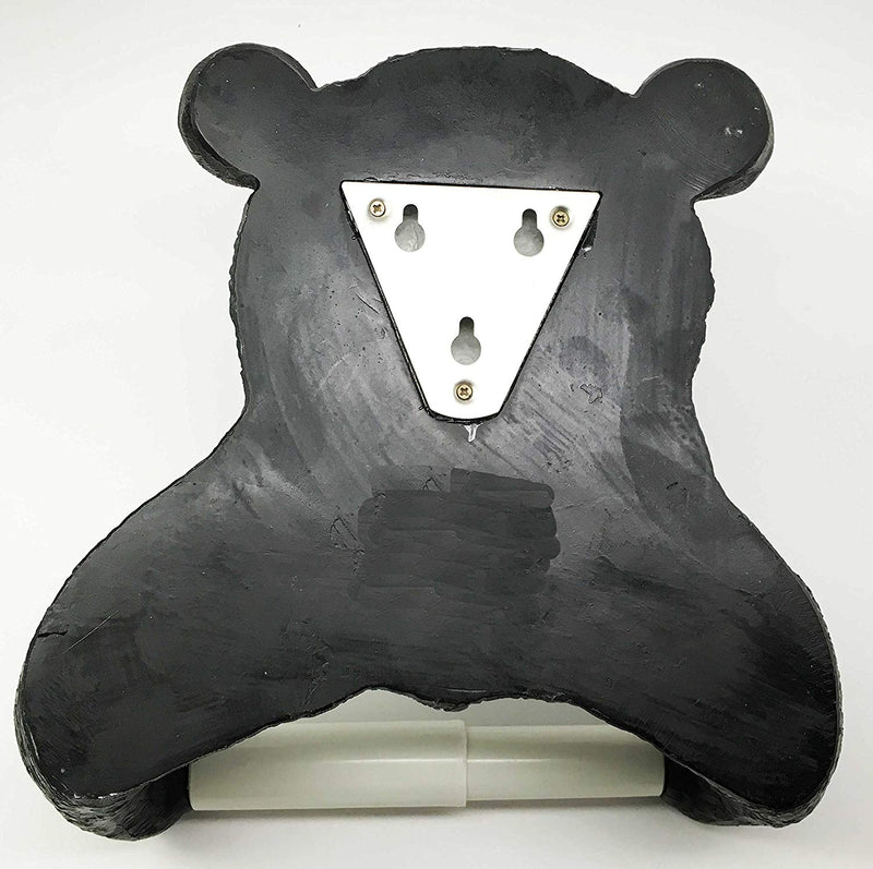 Ebros Whimsical Black Bear Toilet Paper and Hand Towel Holder Set Bathroom Decor