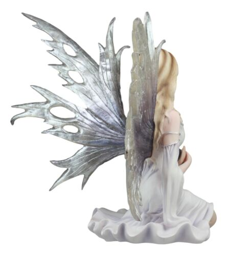 "Large Winter Solstice Purity Fairy With Crystal Gazing Ball Statue 11.75""H"