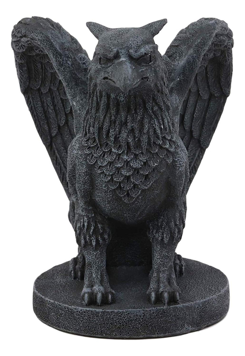 "Ebros Mythical Winged Griffon Griffin Eagle Lion Gargoyle Statue Home Decor Figurine 6.75"" Tall Gothic Sculptures Statues And Figurines Might And Magic Heroes And Royalty Symbol"