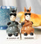 Ceramic 'A Couple Of Badasses' Donkeys With Shades Pepper Shakers Figurine Set