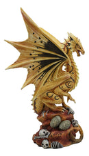 Ebros Desert Sand Element Dragon Statue Anne Stokes Adult and Baby Wyrmling Set
