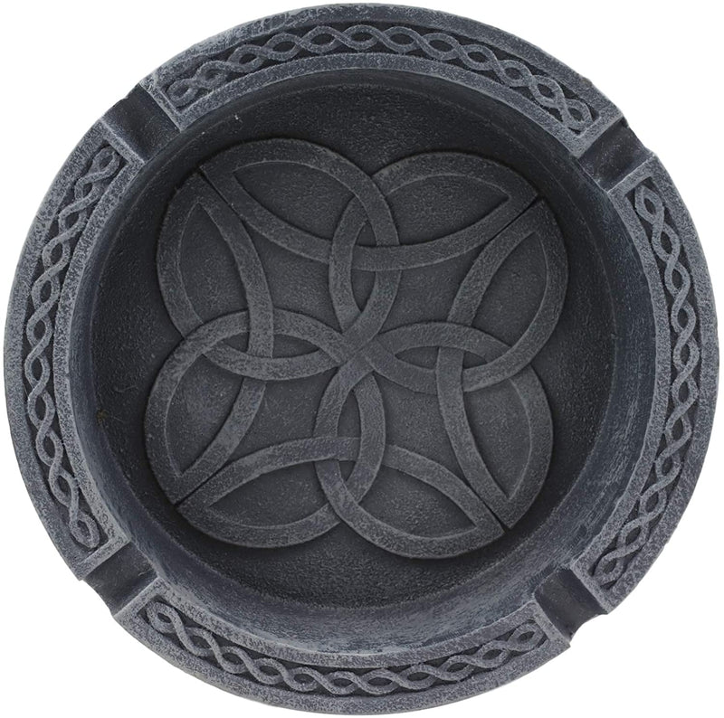 "Ebros Gift 5"" D Round Celtic Tribal Knotwork Dara Knots Design Ashtray"