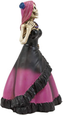 "Ebros Day of The Dead Magenta Skeleton Lady Bride Statue 6""H Decor DOD Figurine"