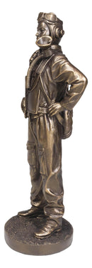 World War II Airman Aircraft Carrier Fighter Jet Pilot Statue Battle Of Midway