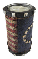 Pack Of 2 Western Patriotic Union Stars American Flag Votive Candle Holder Decor