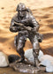 "Large Military Marine Infantry Soldier with Rifle Taking Ground Statue 9.5""Tall"