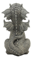 "Ebros Whimsical Garden Dragon Begging For Attention Statue 10.25"" H Cute Baby Dragon Panting Faux Stone Resin Finish Figurine"