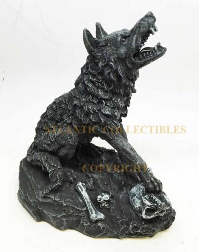 Ebros 6.5 Inch Howling Werewolf with Crushed Skull Statue Figurine