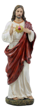 "Sacred Heart of Jesus Statue 11"" H Roman Catholic Christus Christ Figurine"