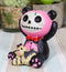Furrybones Black and Pink Panda Pandie Voodoo Skeleton Monster Ornament Figurine