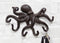 Cast Iron Nautical Cthulhu Deep Sea Kraken Octopus Tentacles 6 Pegs Wall Hook