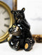 Western Rustic Black Bear Eating Honey From Honeycomb Beehive Figurine Bears