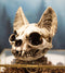 Egyptian Goddess of Protection And Home Bastet Cat Skull Statue Macabre Skulls