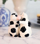 Ceramic Bovine Love Holstein Cows Couple Dancing Salt And Pepper Shakers Set