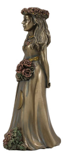 Ebros Celtic Sacred Lunar Cycle Triple Goddess Statue Triology of Feminism Dianic Wiccan Cosmic Trinity Hecate Artemis and Diana Decorative Figurine (The Maiden with Waxing Moon)