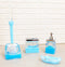 Nautical Marine Blue Dolphins 5 Piece Chic Bathroom Vanity Accessories Gift Set