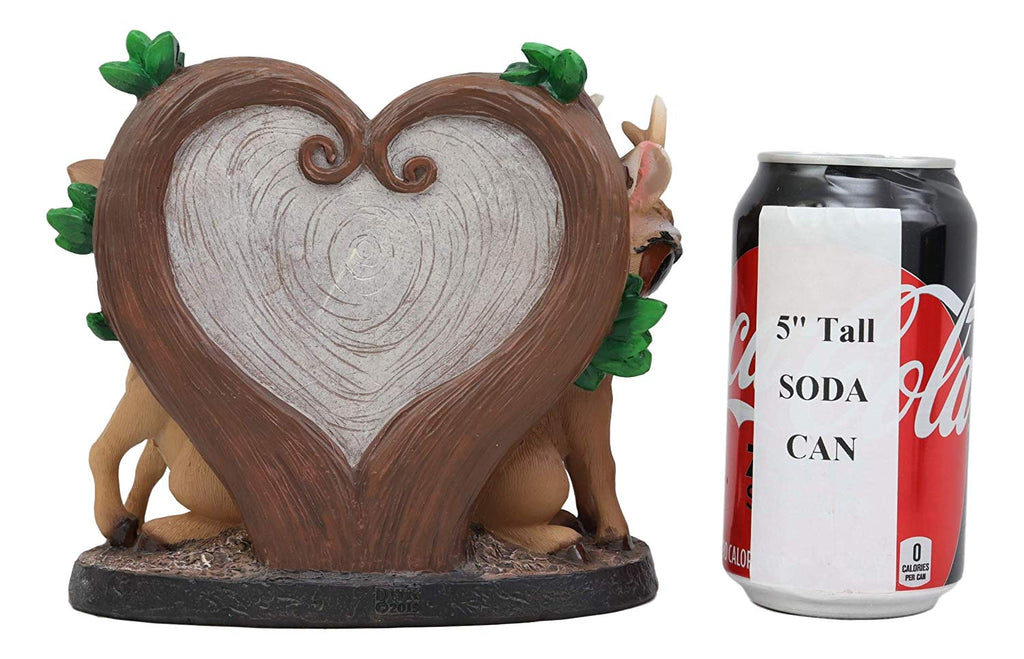 Ebros Valentines Romantic Love Deer Couple By Heart Shaped Plaque Deco Ebros Gift