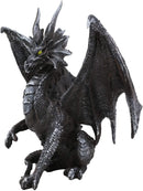 "Ebros Ruth Thompson Metallic Grey Checkmate Dragon with Horns Statue 9"" Tall"