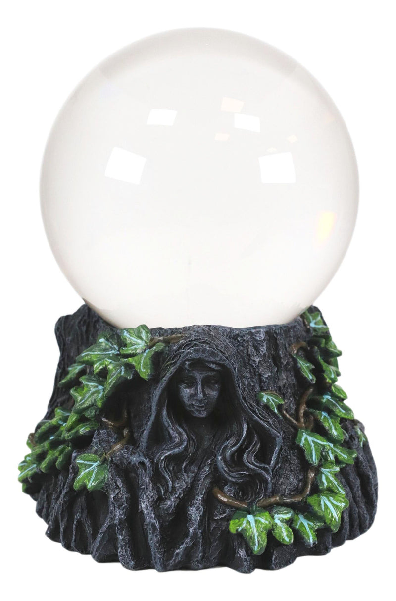 "Ebros Celtic Triple Goddess Mother Maiden Crone Scrying Glass Gazing Ball 8"" H"