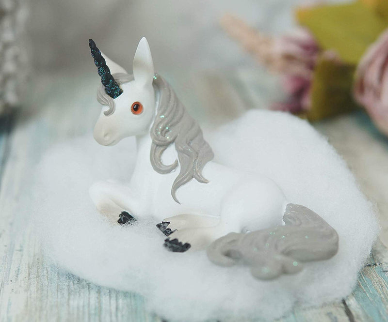 Ebros Whimsical My Little Unicorn Horse Figurine in Pastel Colors (Sparkle Sky)