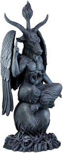 Ebros Faux Stone 3 Feet Oversized Church of Satan Sabbatic Goat Baphomet Statue Satanic Occultic Idol Sculptural Wonder